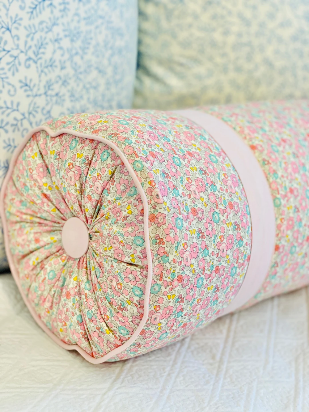 This custom pillow is a total show-stopper!