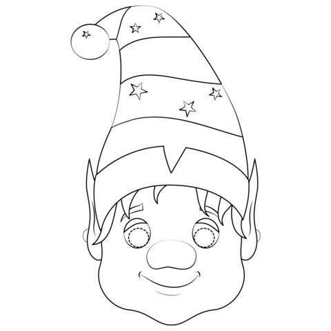 mask coloring page free