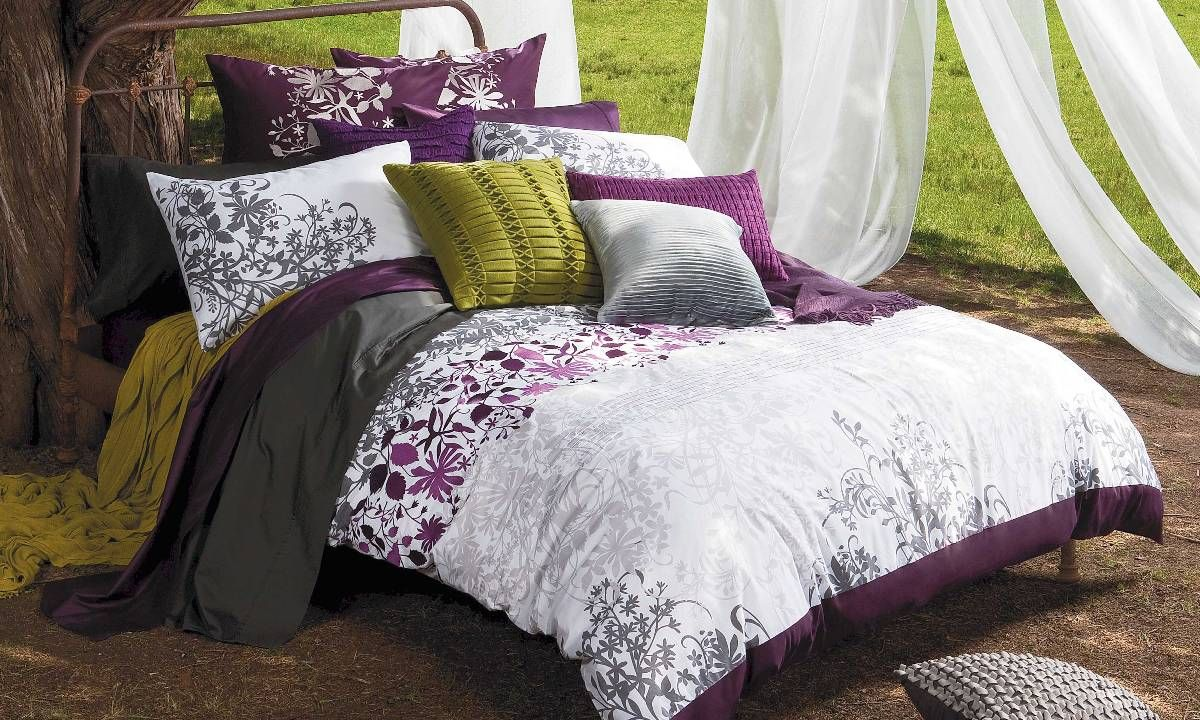 Enchanted Plum Bed Linen By Kas From Harvey Norman New Zealand