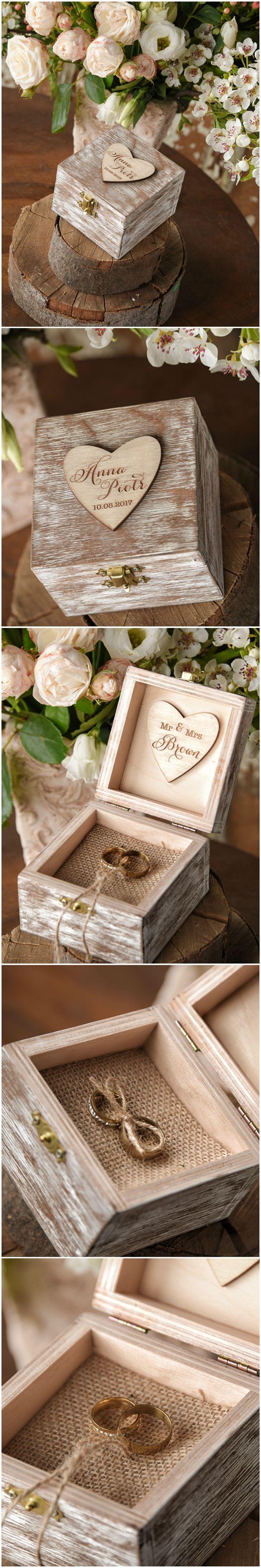 Ring Bearer Pillows Box Wedding Ring Box Romantic And Woods