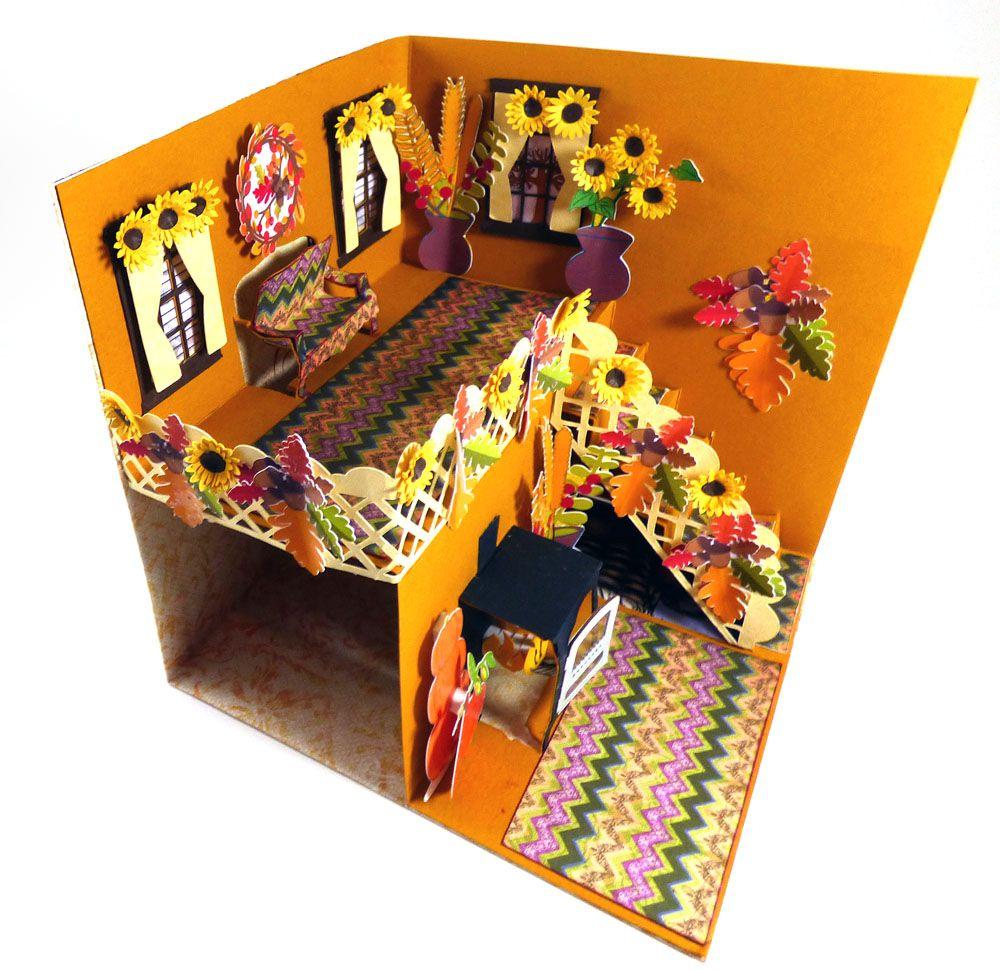 fall pop up card  diy pop up cards crafts craft room