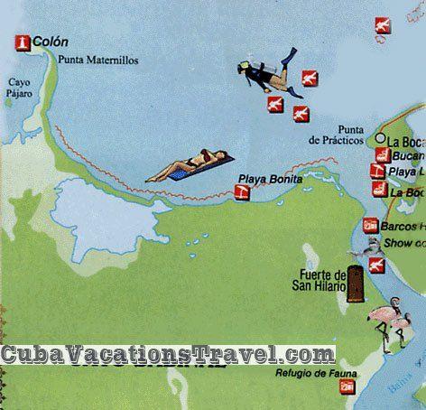 Map of Cayo Sabinal Camaguey Cuba Cuba Pinterest Map cuba