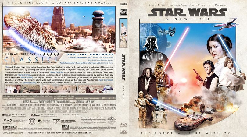 Star Wars Episode Iv A New Hope Blu Ray Custom Cover Star Wars Episode Iv A New Hope