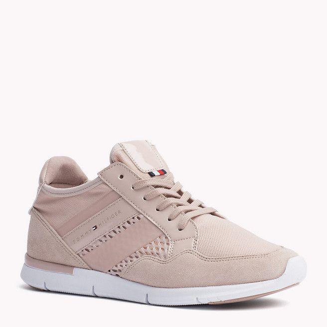 Tommy Hilfiger Sneaker »metallic Sneaker«, Lila, Dusty Rose