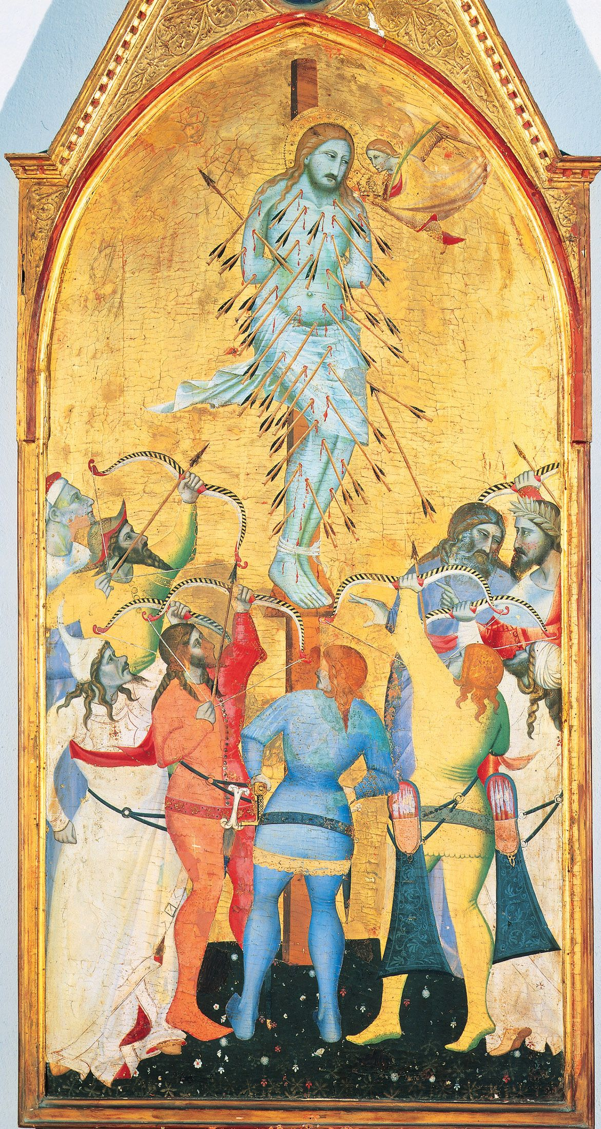 Giovanni Del Biondo Le Martyre De Saint Sébastien XIVe Si¨cle