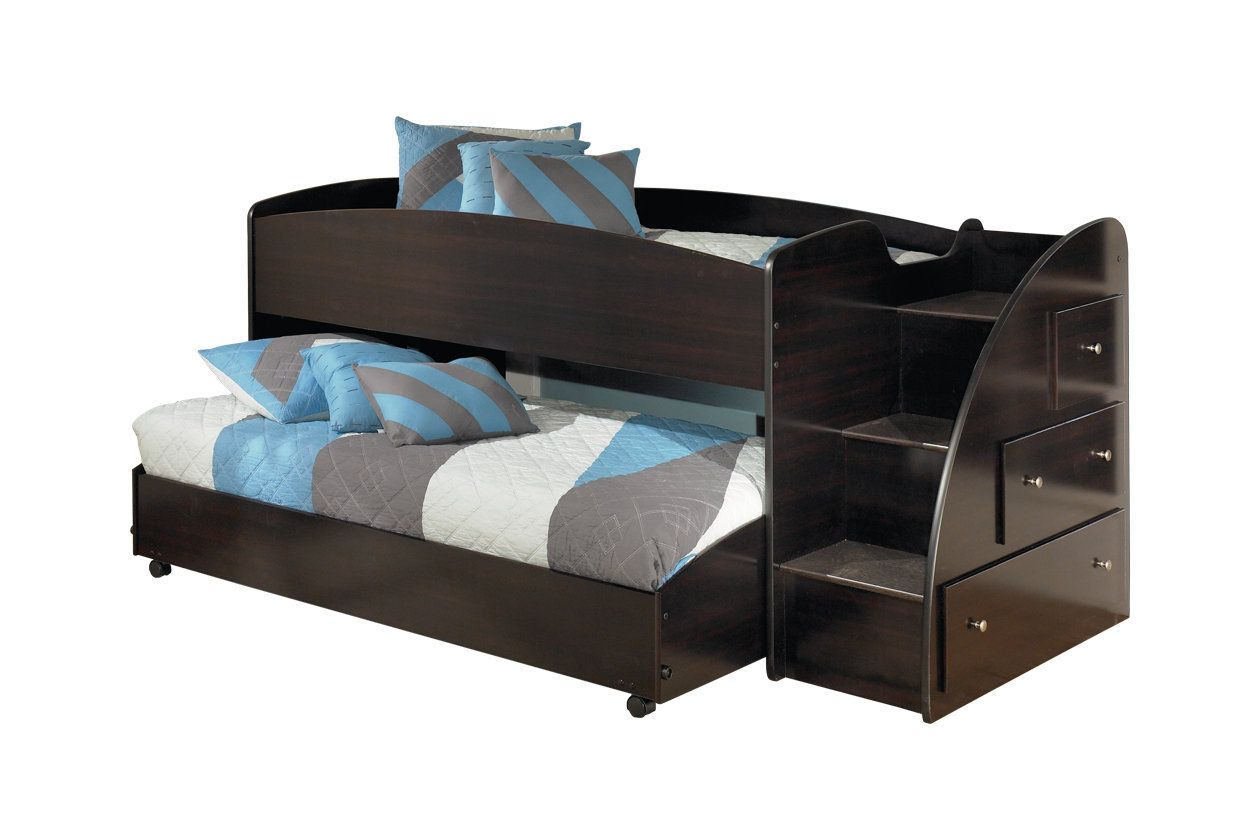 embrace kids loft bed with caster and right steps ashley furniture