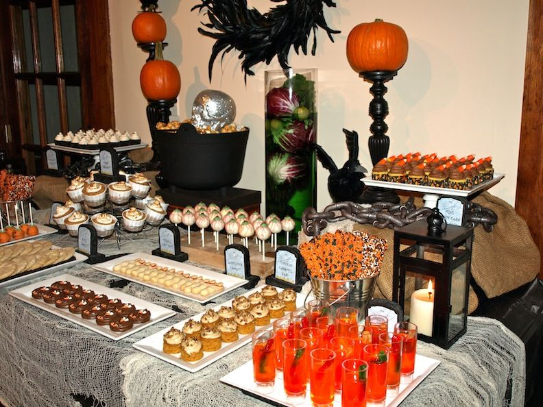A Party Style Halloween Dessert Table Halloween Dessert Table Halloween Table Decorations Halloween Table