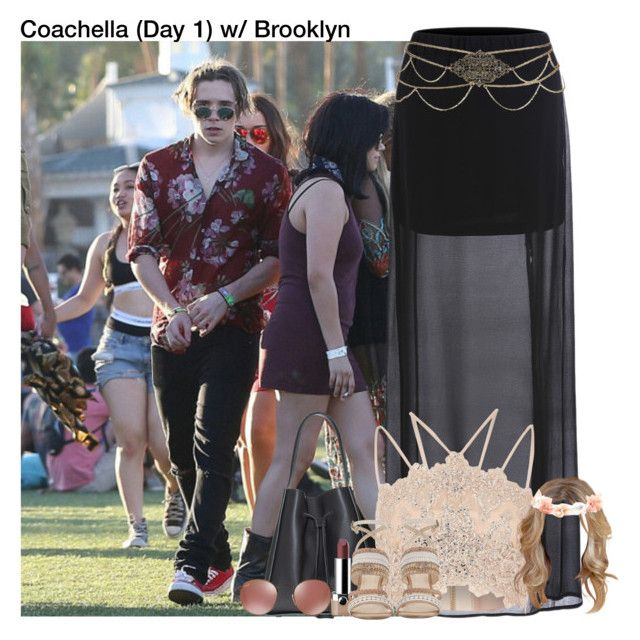 """""""Coachella (Day 1) with Brooklyn"""" by alanalove-123 ❤ liked on Polyvore featuring River Island, Marc Jacobs and Nine West"""