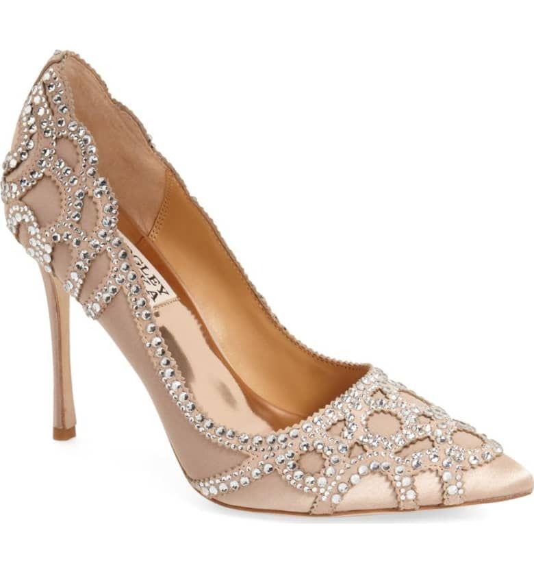 Badgley Mischka Rouge Pointy Toe Pump Women Schuhe Hochzeit Hochzeitsgast Schuhe Brautschuhe