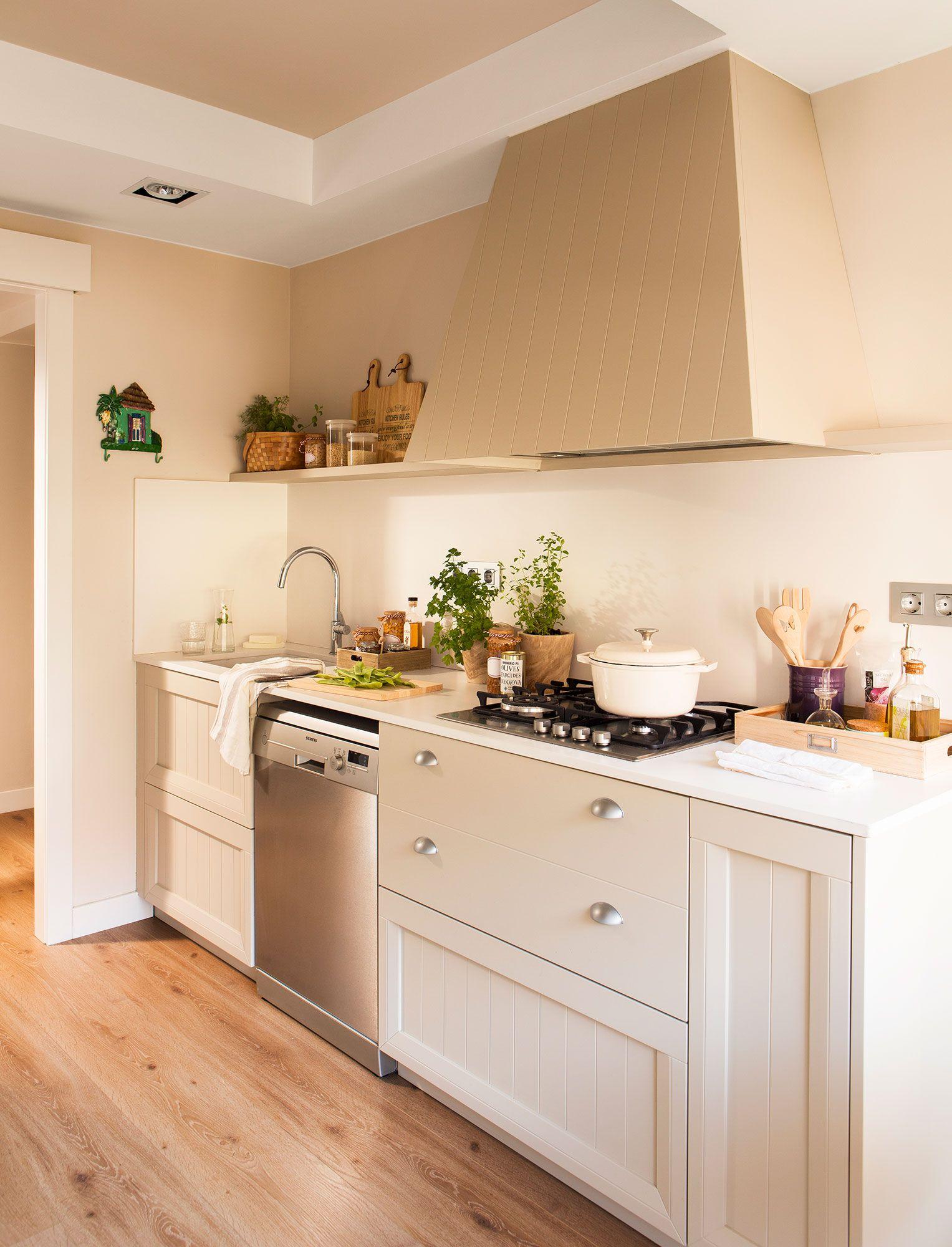 Cocina barra el mueble 00450032 cocina peque a el for Estantes para cocina pequena
