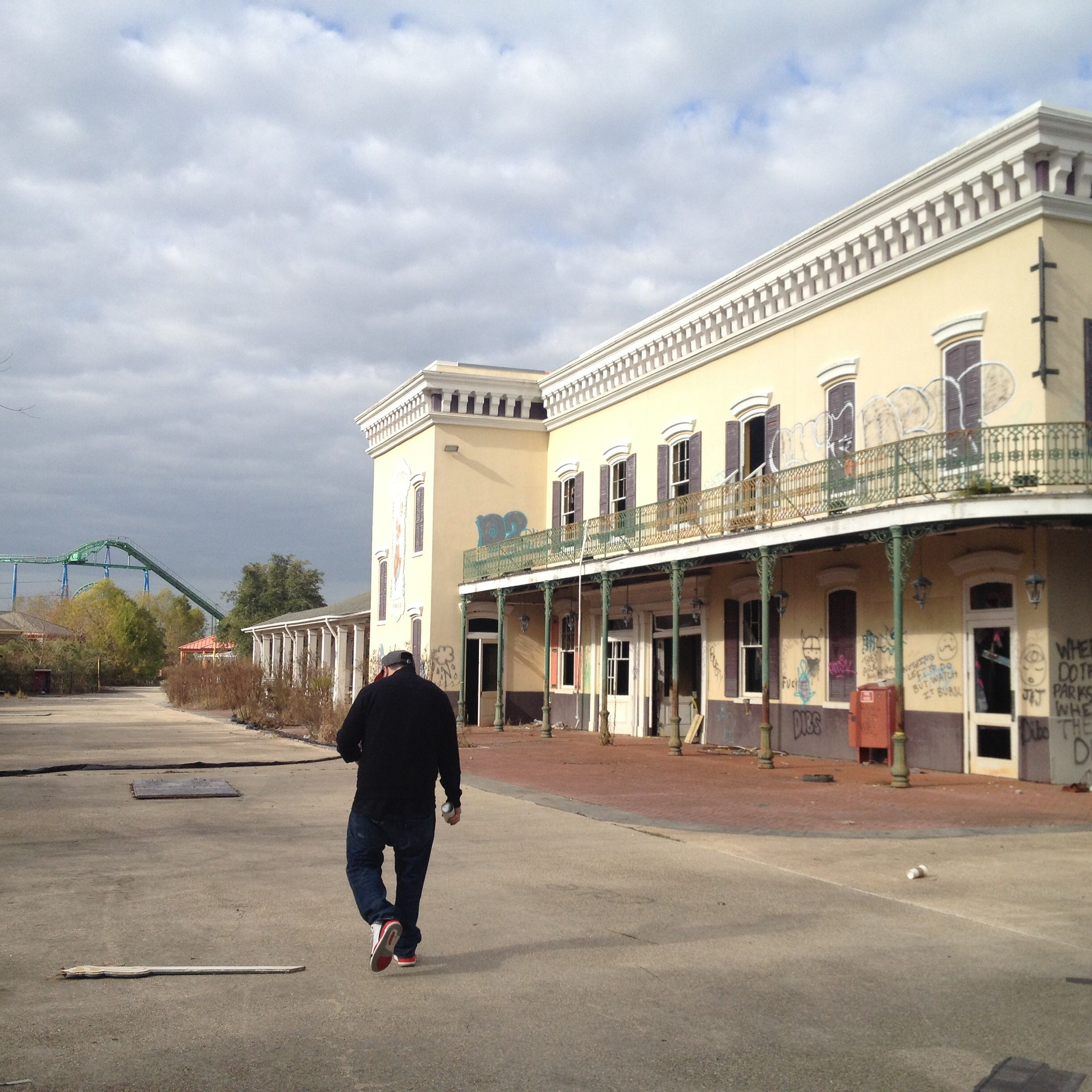 Abandoned Six Flags New Orleans Jan 2014