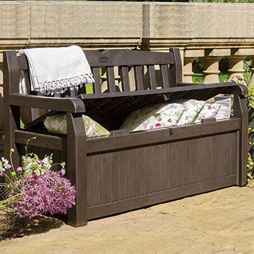 Waterproof Outdoor Garden Patio Storage Bench Seating Deck Box Brown 70 Gal New Patio Storage Bench Patio Storage Outdoor Storage Bench