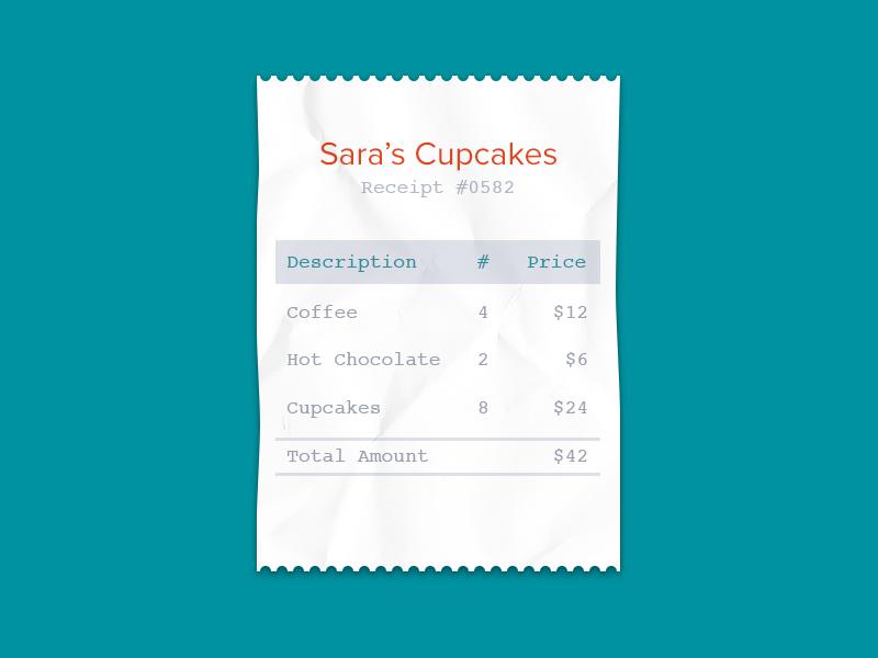 Receipt by Wave Apps App, Ticket design, Web design