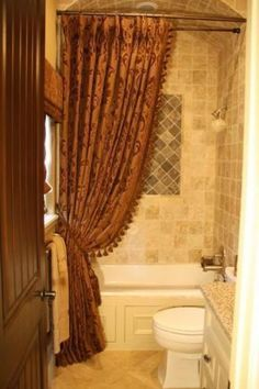 Custom Shower Curtain Love The Tile Work And Tub Surround