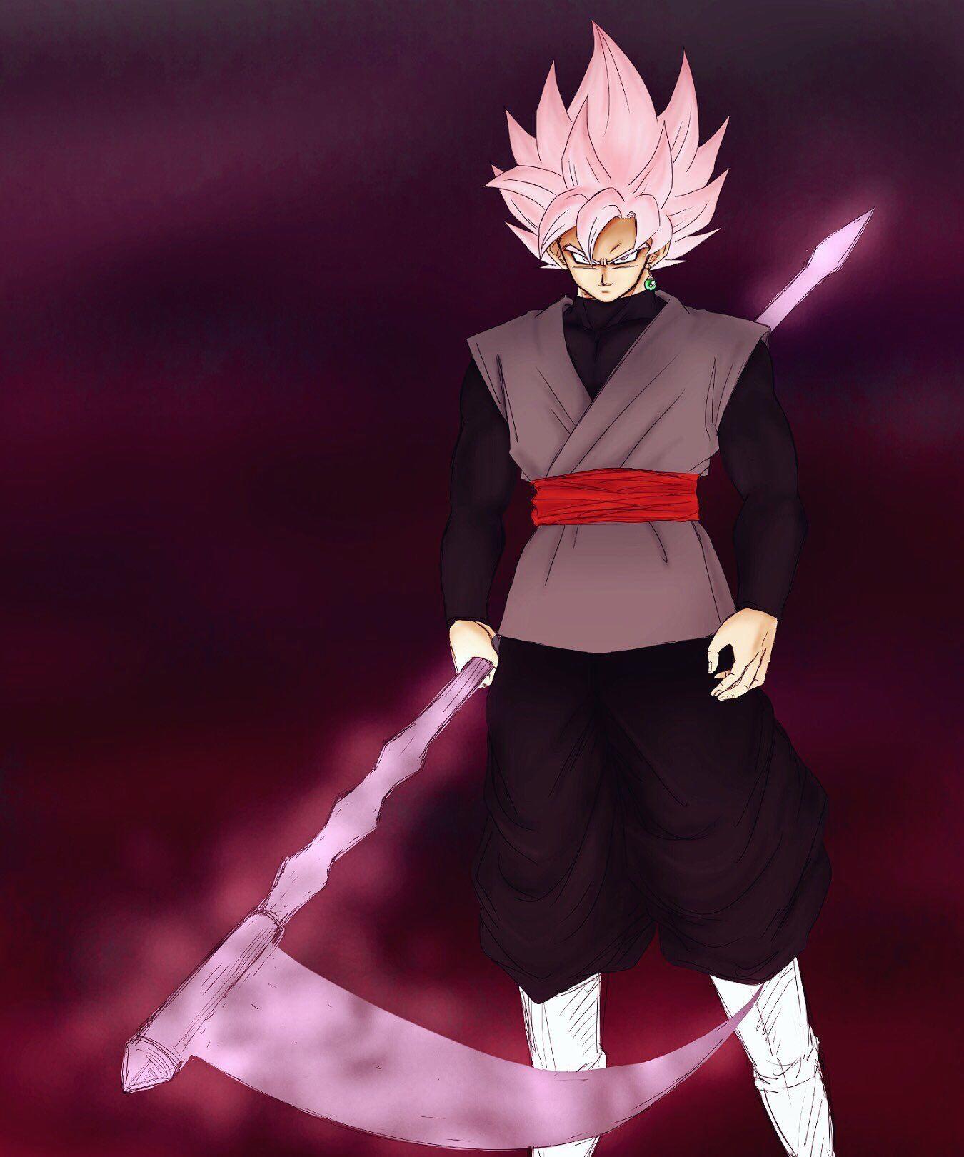 Blackgoku Scythe Dragon Ball Super Manga Goku Black Super Saiyan Rose