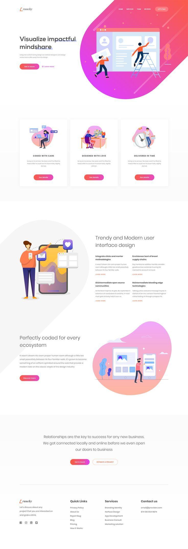 Web Design Agency Landing Page by Nafseen Al Shoaib - Thehotskills