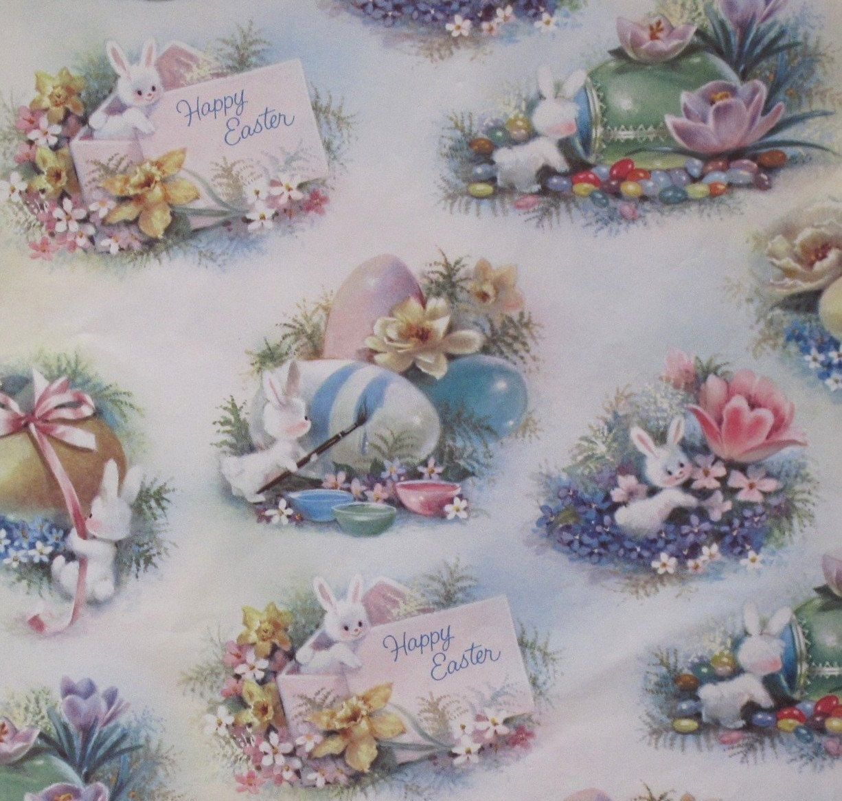 Vintage easter gift wrap honey bunnies wrap it up vintage vintage easter gift wrap honey bunnies negle Image collections