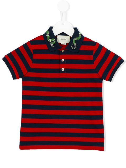 fdcc365ff83 Shop Gucci Kids striped polo shirt .