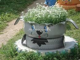 Imagini Pentru Ghivece Flori Din Cauciuc Tyres Recycle Old Tires Repurposed Tire