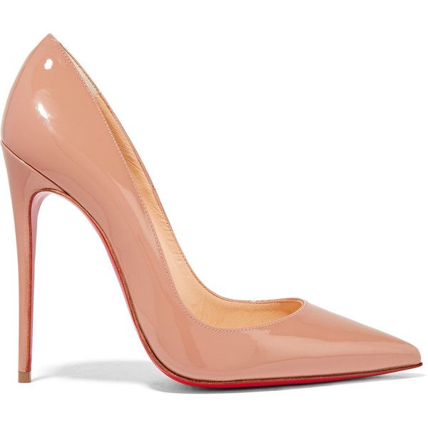 Christian Louboutin So Kate 120 patent-leather pumps (11,285 MXN) ❤ liked on Polyvore featuring shoes, pumps, heels, sapatos, louboutin, christian louboutin shoes, pointed toe pumps, stiletto heel pumps, high heel pumps and high heel shoes