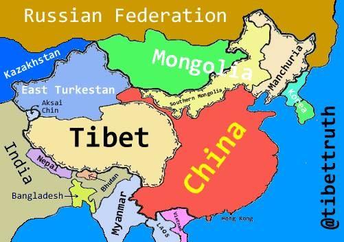 We ve redrawn the map for trueTibet EastTurkistan Manchuria