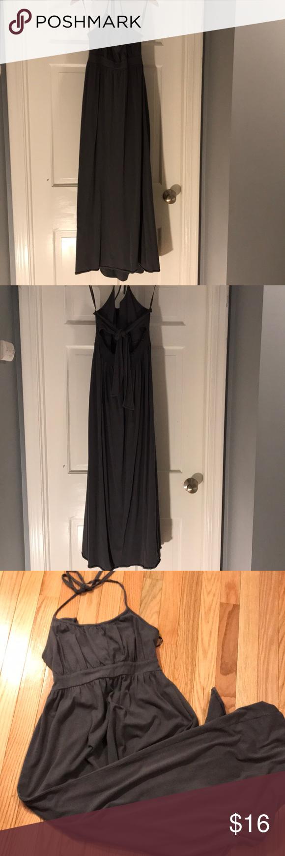Gap Body Halter Open Stir Back Maxi Dress Clothes Design Nice Dresses Gap Body [ 1740 x 580 Pixel ]