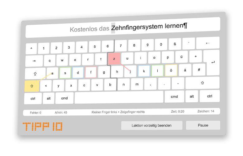 Tipp10 Kostenloser 10 Finger Schreibtrainer Zehnfingersystem Schreiben Lernen Lernen Schulunterricht