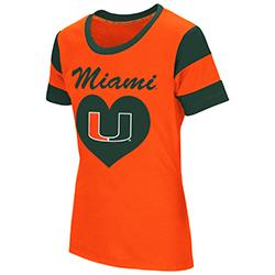 Miami Hurricanes Girl's Bronze Medal S/S T-Shirt