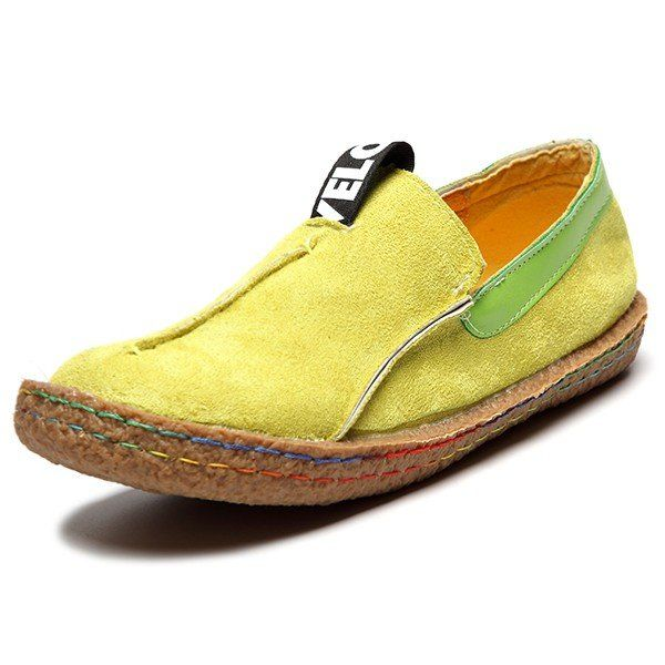 Hot-sale Suede Pure Color Slip On Stitching Flat Soft Shoes For Women -  NewChic | Stuff to Buy | Pinterest | Loafers online, Stitch and Clothing  accessories