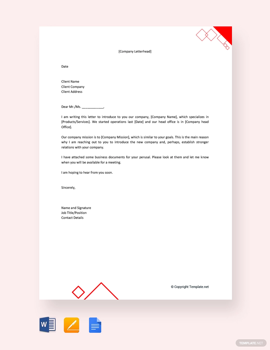 free company introduction letter to client vp resume samples best objective write in civil engineer