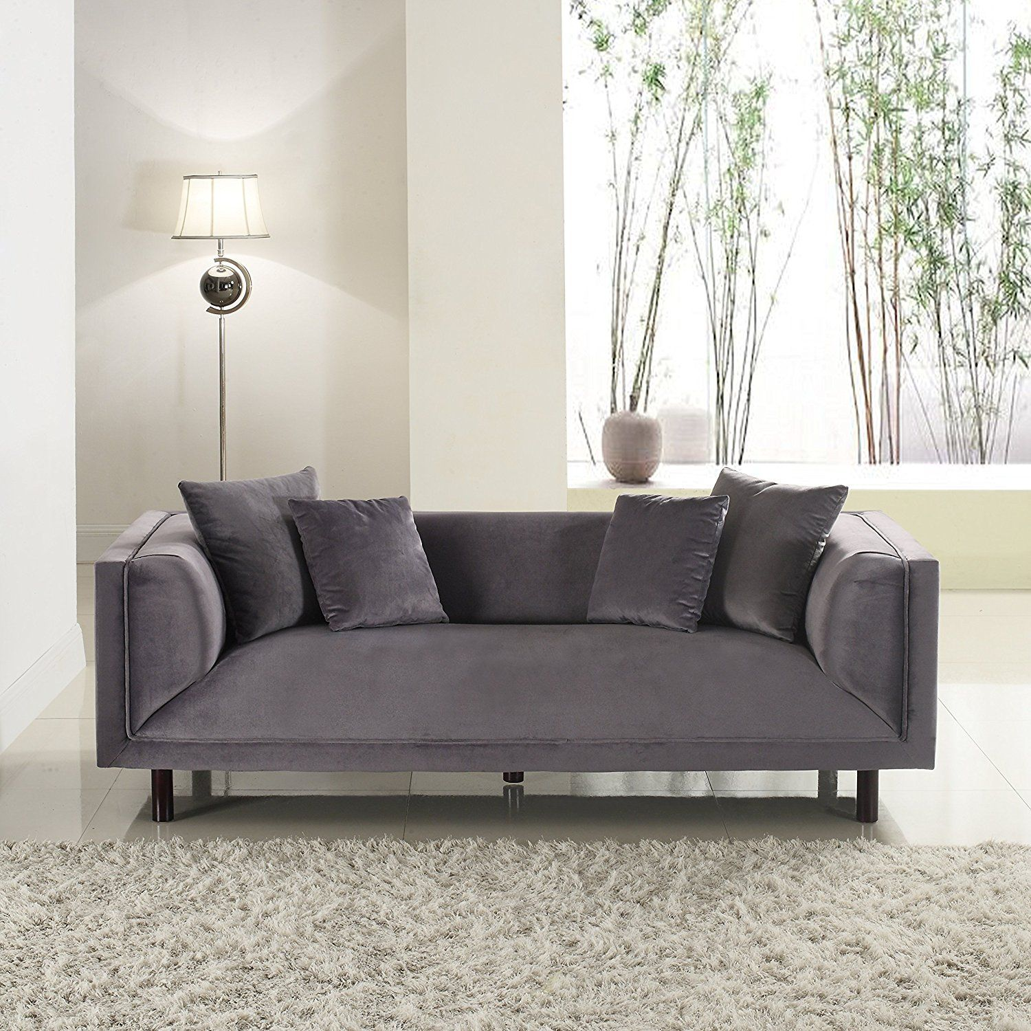 Amazon Divano Roma Furniture Modern Contemporary Velvet 3