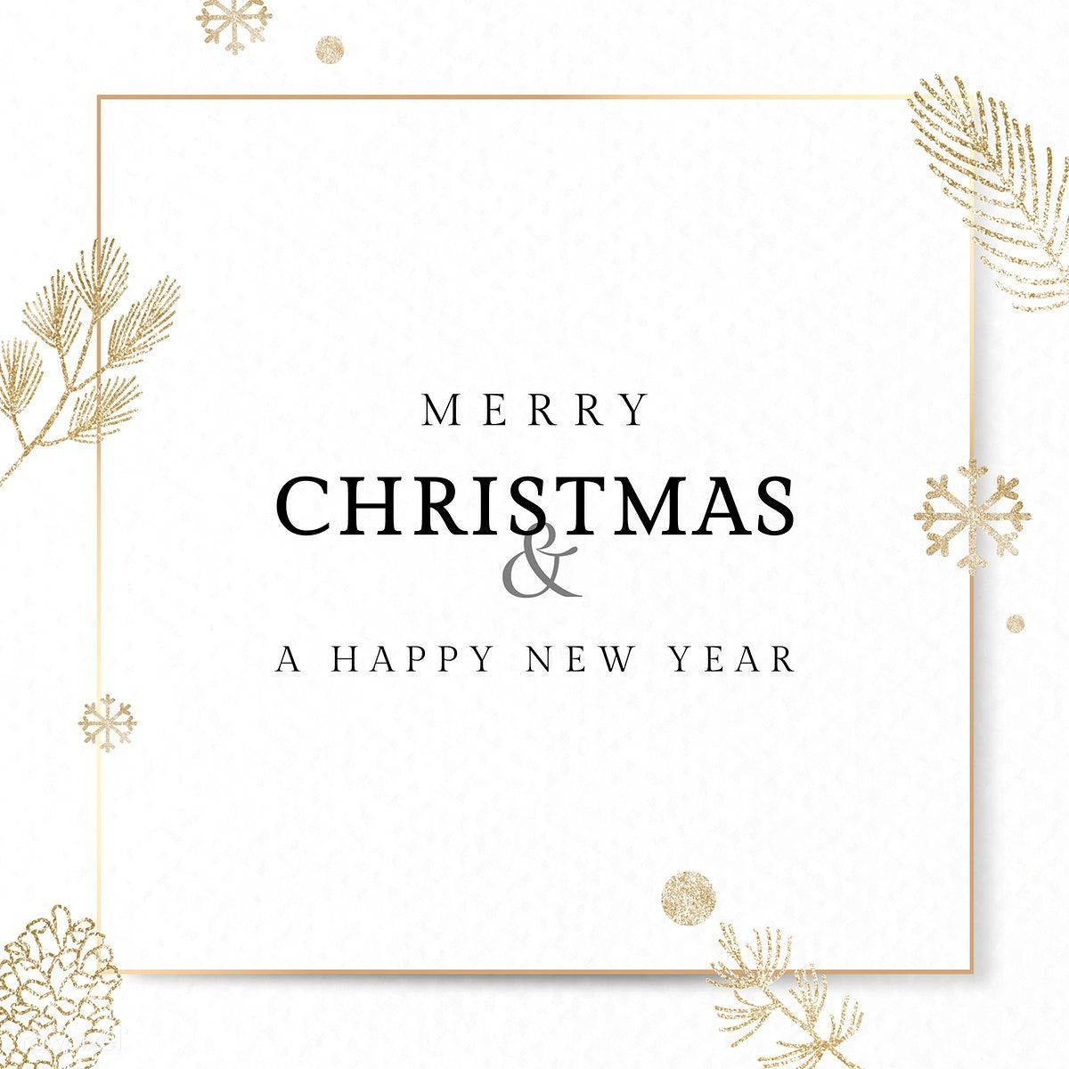 Download Premium Vector Of Christmas Gold Frame Social Ads Template Vector Merry Christmas Card Greetings Christmas Card Template Gold Christmas