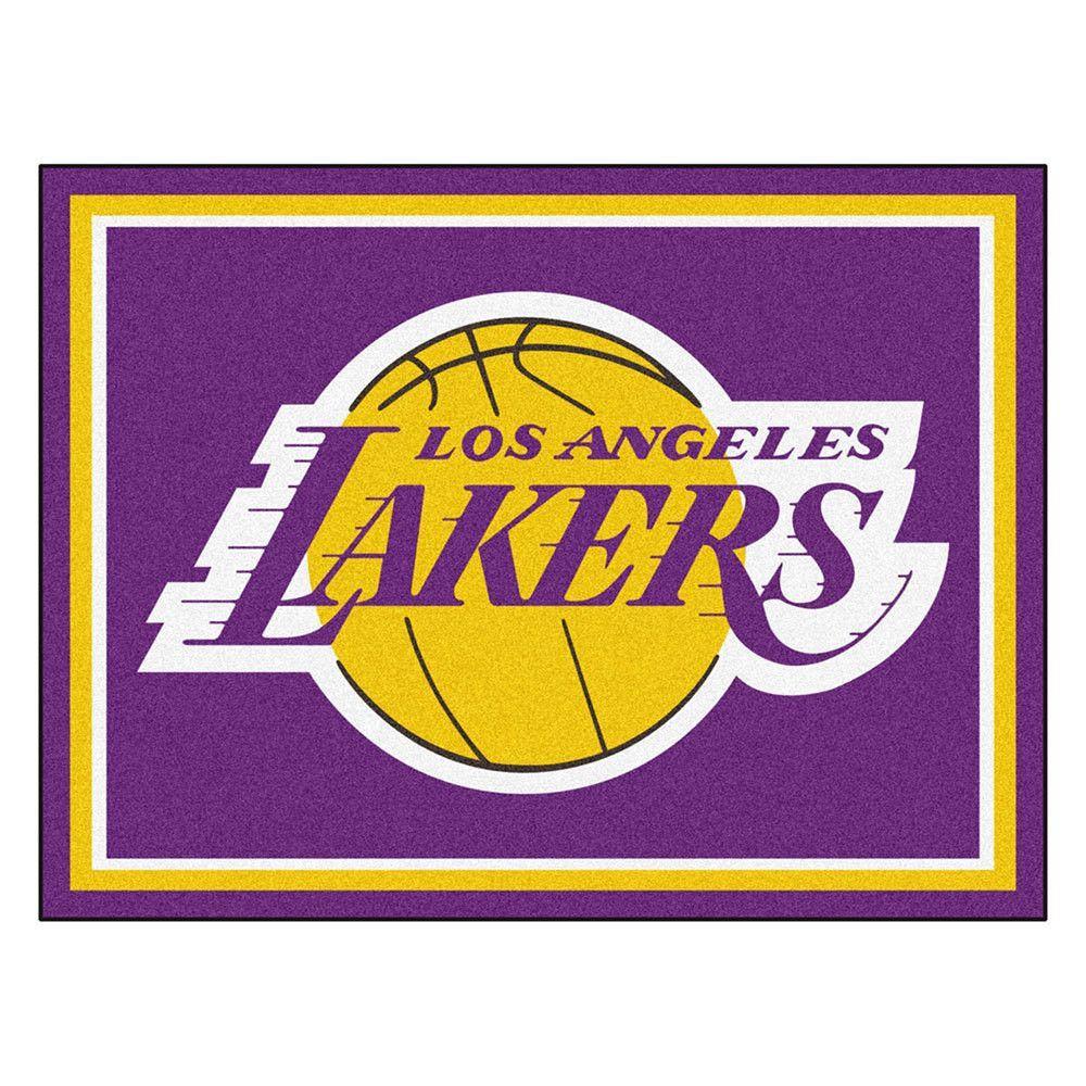 Los Angeles Lakers Nba 8ft X10ft Area Rug Los Angeles Lakers Logo Los Angeles Lakers Lakers Logo [ 1000 x 1000 Pixel ]