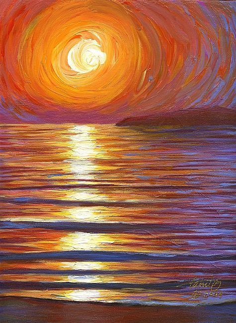 By Tami Oylercatalina Sunsetacrylicpainting The Water Is Beautiful Sky Isnt Doing It For Me