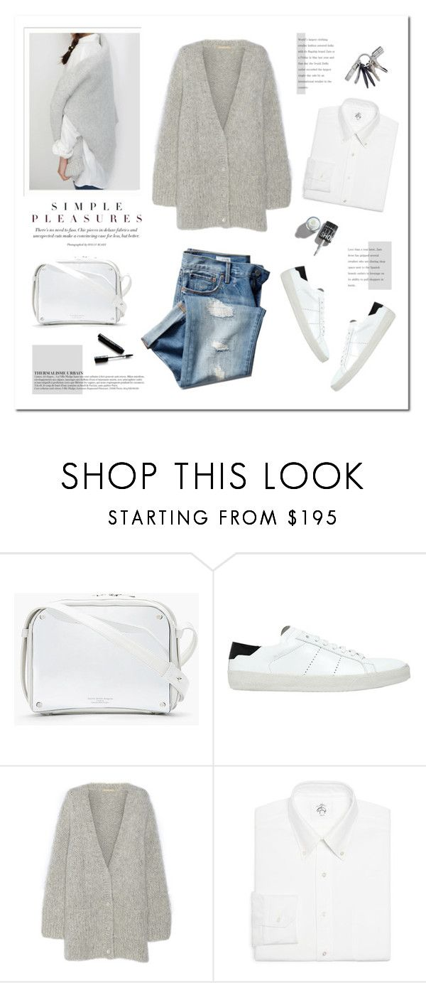 """Simple pleasures."" by yexyka ❤ liked on Polyvore featuring Maison Margiela, Yves Saint Laurent, Michael Kors, Brooks Brothers, Anja, Michael Williams, Dolce&Gabbana and Gap"