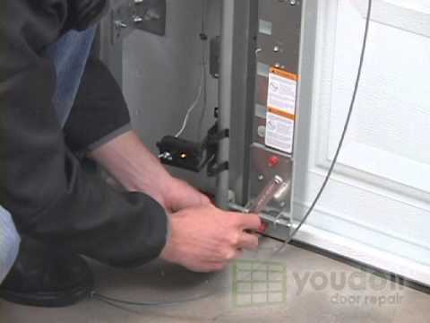 Replacing Cables On A Torsion Spring Garage Door Youtube In 2020