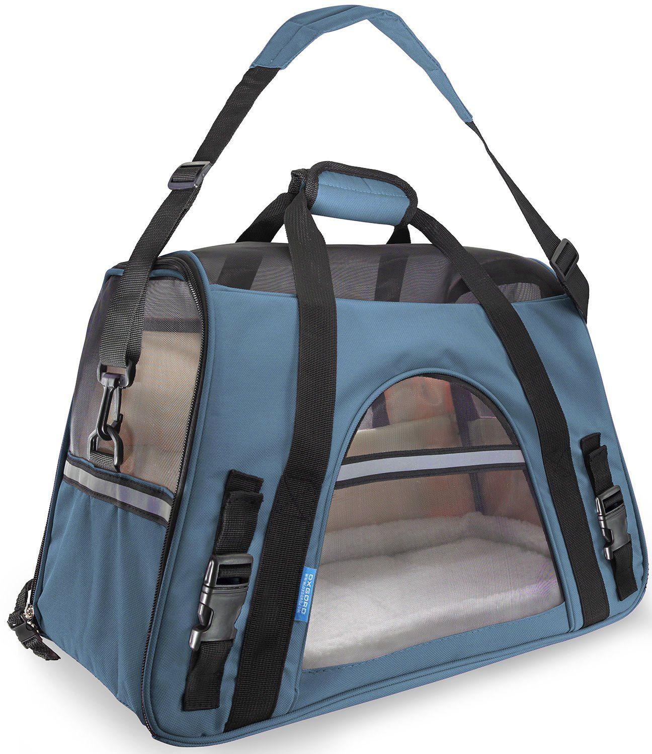 Pet Carrier Soft Sided Large Cat Dog Comfort Mineral Blue Bag Travel Approved Click Image For More Details Thi Dog Carrier Bag Pet Carrier Bag