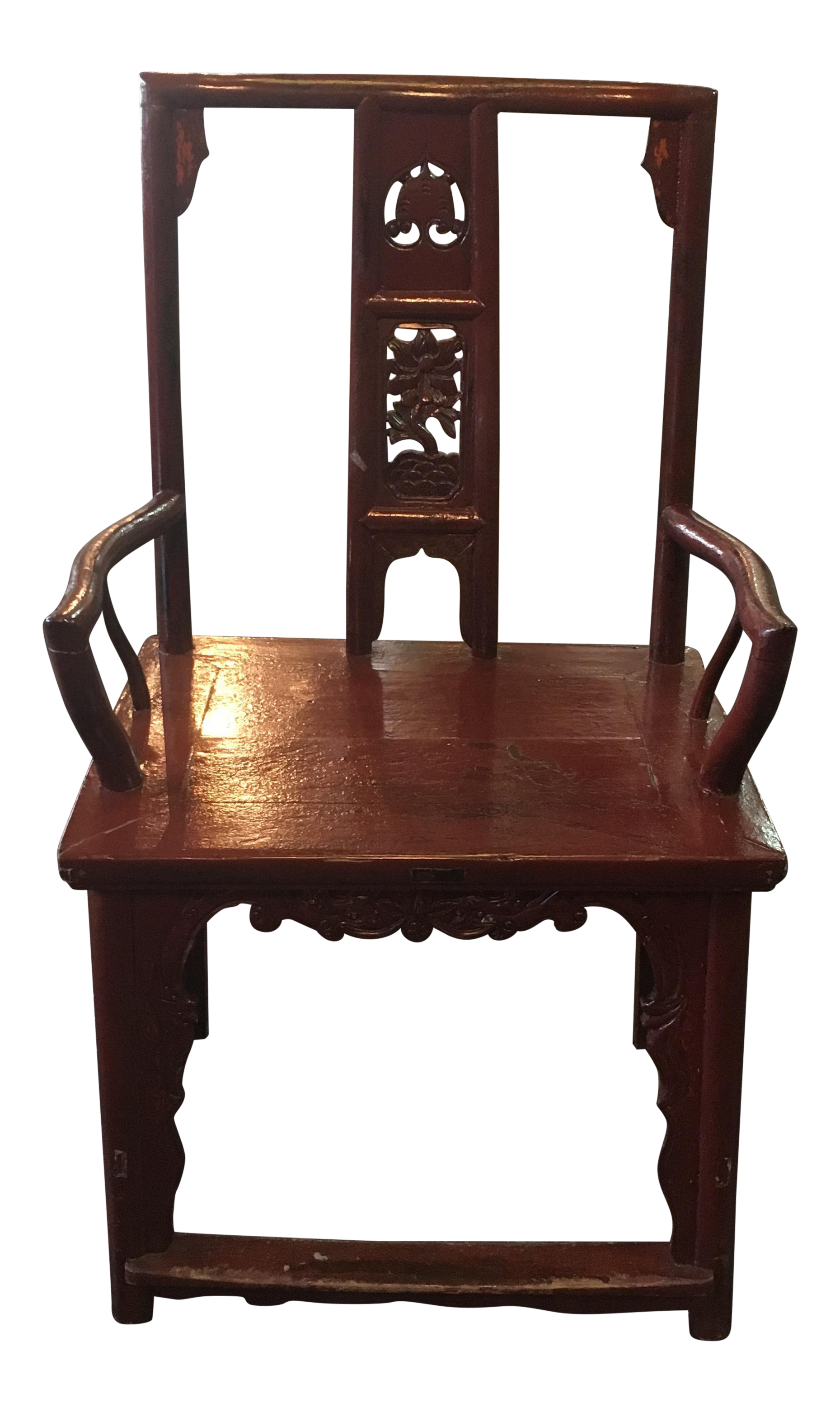Chinese Elm Temple Chair Authentic Chinese Temple Chair Approximately 100 Years Old Made Of Solid Elm W Chippendale Chairs Chinese Chippendale Chairs Chair