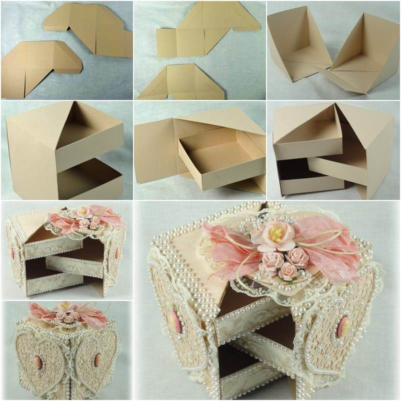 Diy beautiful gift box with hidden drawers box gift and for Gifts u can make