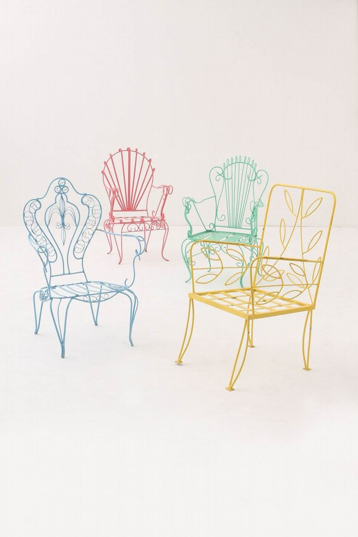 Colorful Wire Chairs