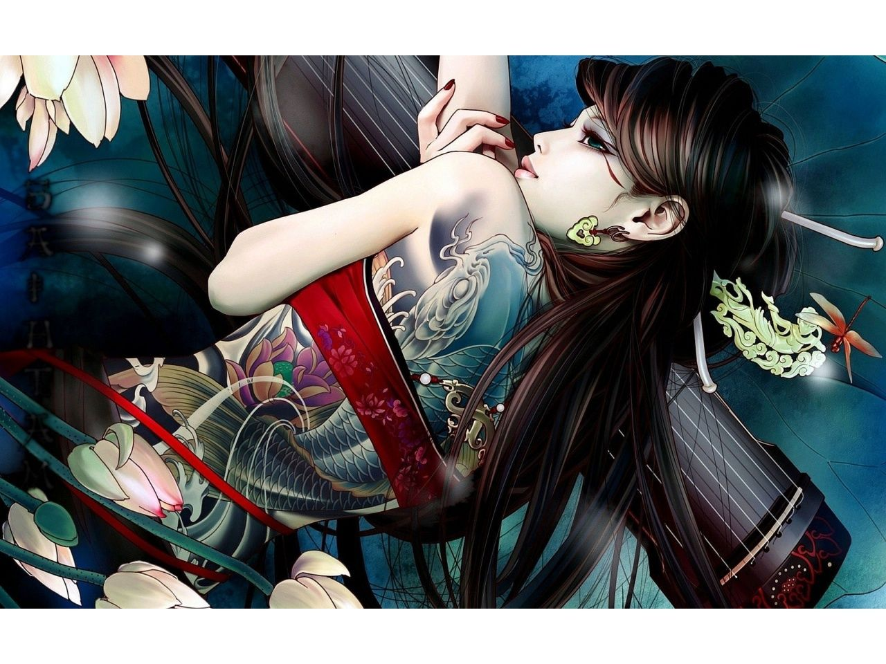 That 1 2 Tattoo Girl Wallpaper Fantasy Tattoos Girl Back Tattoos