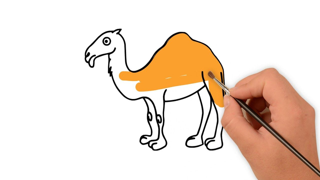 How to draw a camels for kids step by step animal   Easy ...