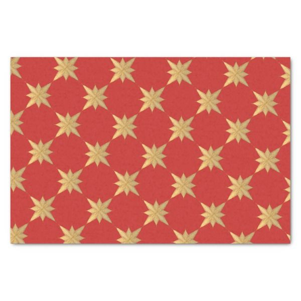 gold christmas star sketch on red matches cardinal tissue paper xmas christmaseve christmas eve christmas merry xmas family kids gifts holidays santa