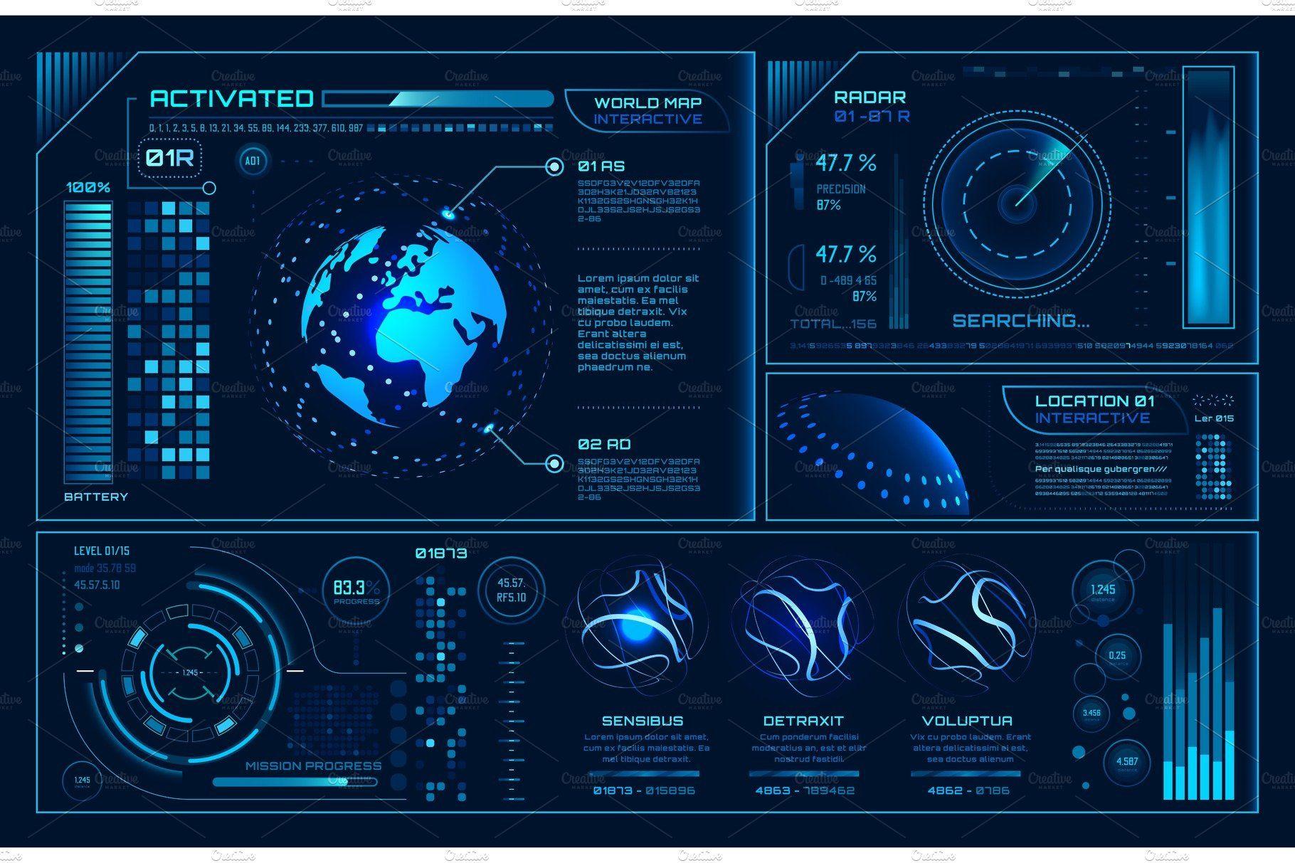 Futuristic hud interface. Future