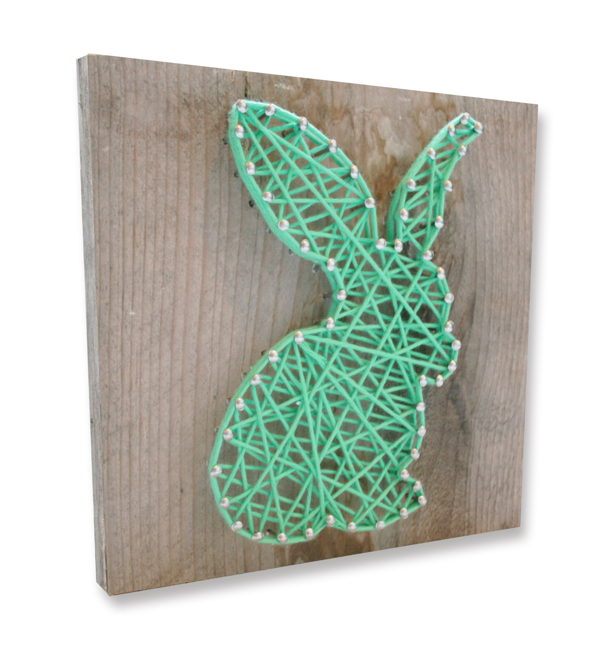 String-art DIY easter package including wood panel (20x20cm), nails ...