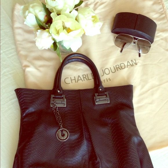 f44d30e438b5 Authentic Charles Jourdan Paris Tori black tote Authentic Black Charles  Jourdan Tori croc print tote. Never used. Bought it as gift. Dust bag  available.
