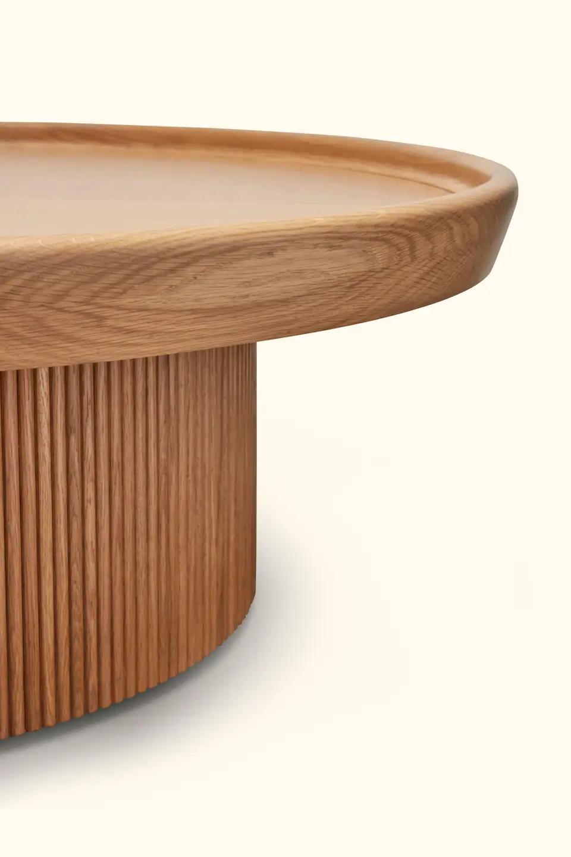 Oak Ojai Coffee Table By Lawson Fenning Round Coffee Table Modern Drum Coffee Table Wood Coffe Table [ 1440 x 960 Pixel ]