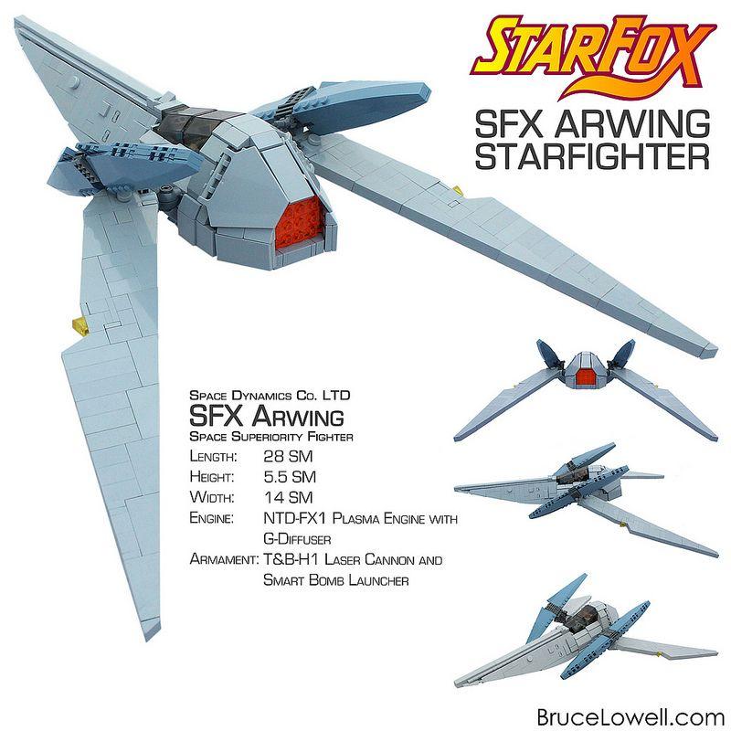 LEGO SFX Arwing | Pinterest | Lego star, Lego and Foxes
