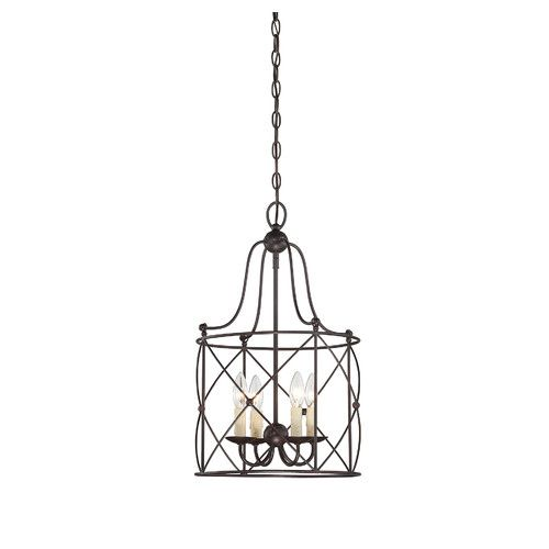 The seneca foyer lights from savoy house feature well crafted woven birdcage style structures and a stately english bronze finish