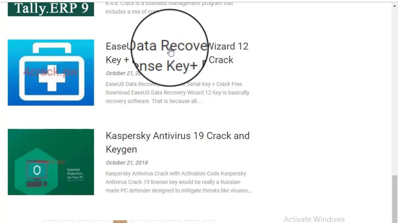 data recovery software with crack or activation key